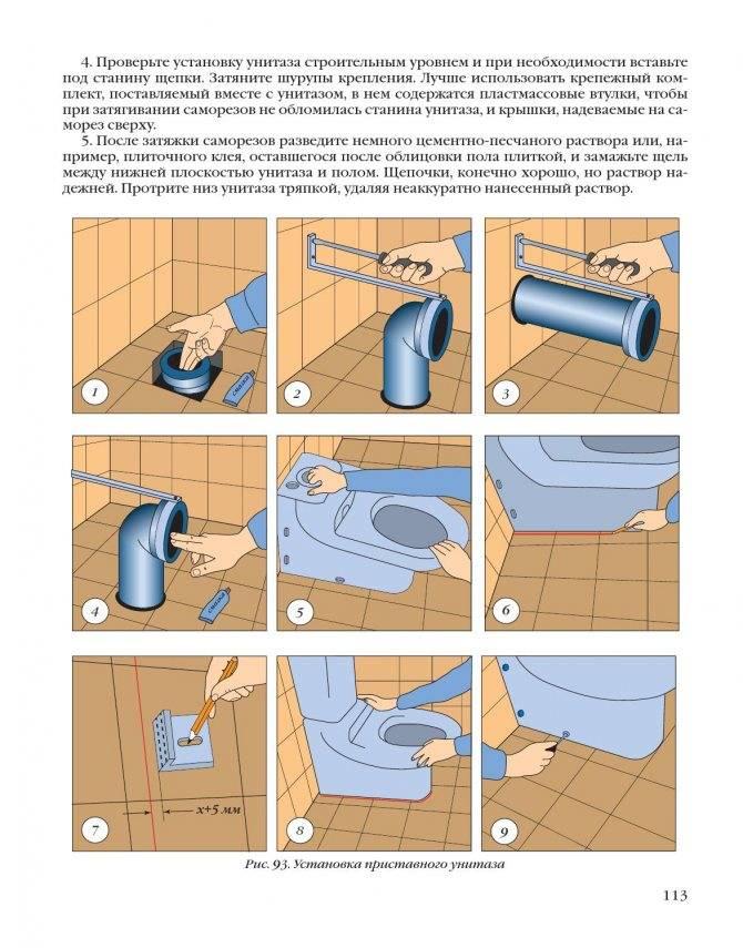 Как установить унитаз с косым выпуском: подробная инструкция