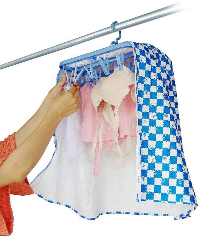 Где сушить бельё в квартире, если совсем нет места