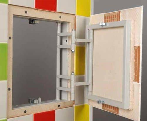 Ревизионные люки под плитку — преимущества и монтаж