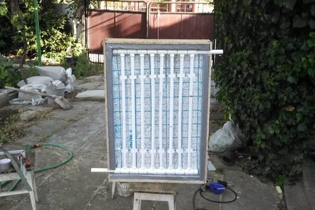 Самодельные солнечные коллекторы для бассейнов, процесс установки