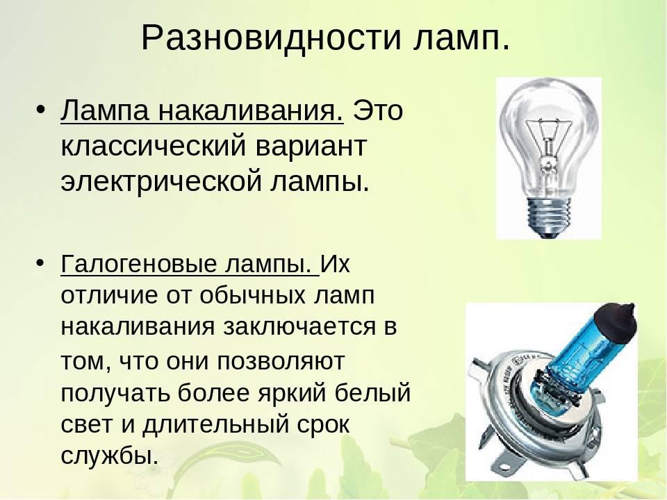 Какие бывают лампы освещения для квартиры — классификация и характеристики