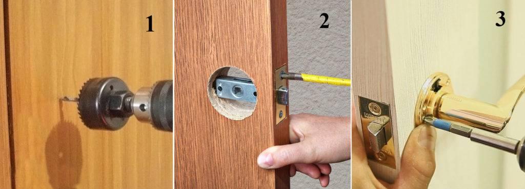 Защелка фиксатор для межкомнатной двери: правила выбора и схема установки