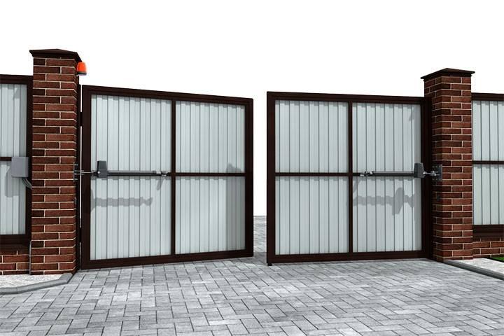 Красивые ворота для частного дома — 25 фото-идей, обзор материалов и конструкций