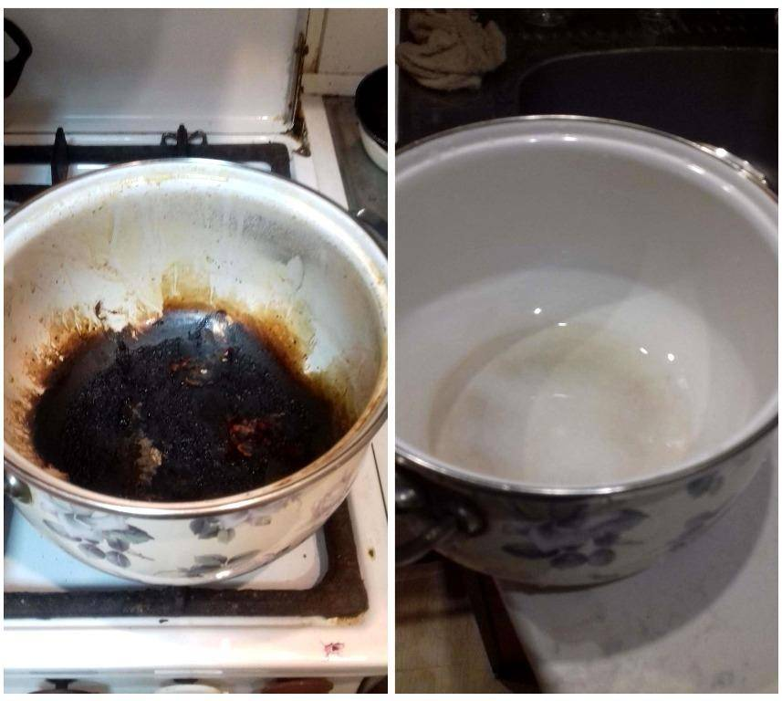 Как отмыть кастрюлю от пригоревшей каши с помощью подручных и профессиональных средств