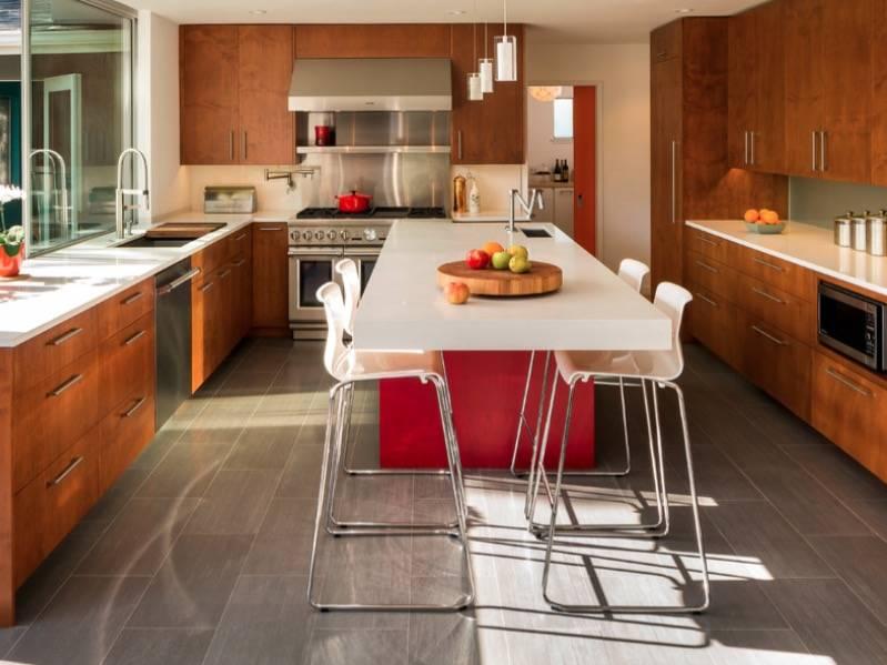 Пол на кухне: критерии выбора, плюсы и минусы каждого вида, 100+ реальных фото