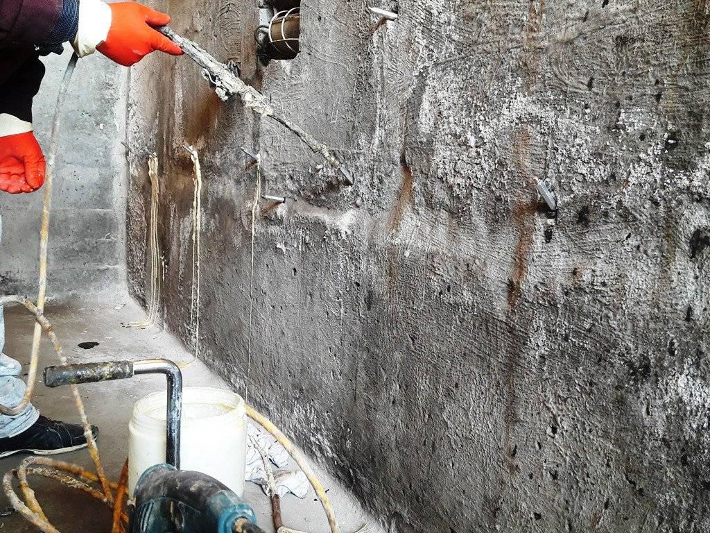 Ремонт бетона инъекционным методом: этапы работ, материалы, инструкция