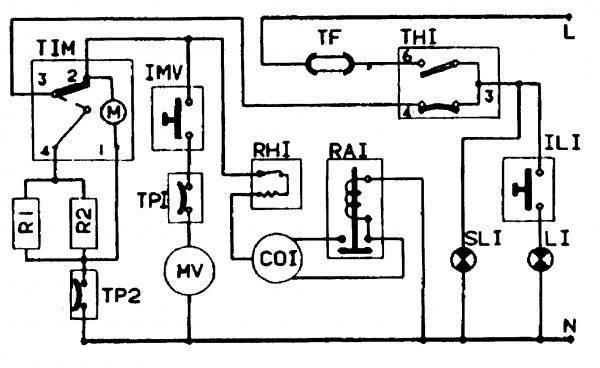 Электрическая схема холодильника - tokzamer.ru