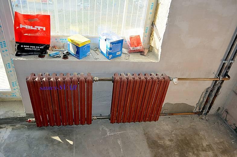 Монтаж радиаторов отопления: в доме или квартире, схемы и подключения своими руками