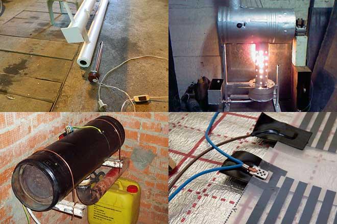 Лучшие виды отопления для гаража: как сделать газовый обогреватель своими руками
