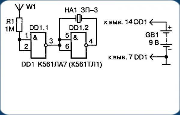 Детектор скрытой проводки своими руками: схема