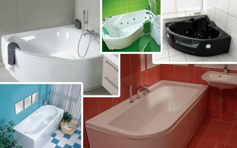 Сравнение чугунных, акриловых и стальных ванн