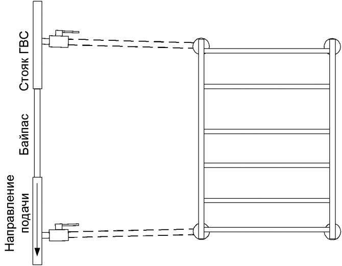 Как подключить полотенцесушитель к стояку гвс и контуру отопления своими руками