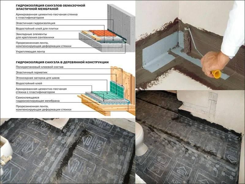 Гидроизоляция плит перекрытия первого этажа