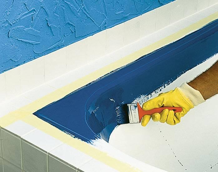 Покраска ванны в домашних условиях: чем можно покрасить внутри, эмаль или акрил, реставрация, видео
