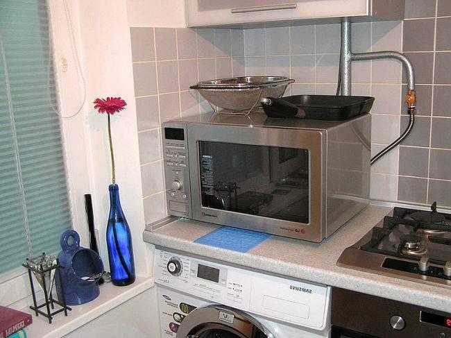 Лучшие идеи удобного расположения микроволновки на кухне