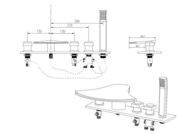 Подробная инструкция по установке смесителя на акриловую ванну своими руками