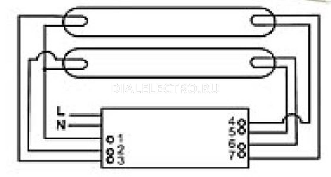 Электронный балласт для люминесцентных ламп (эпра), отличие от эмпра