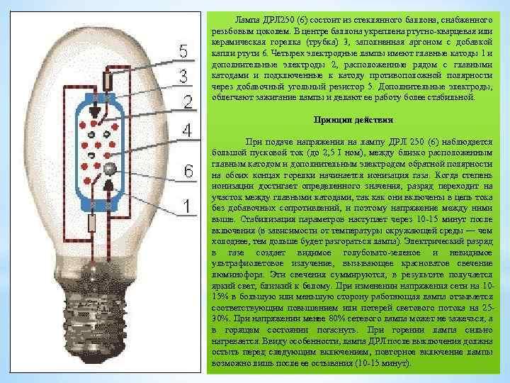 Как работают лампы, типы и классификация, натриевые газоразрядные лампы и их давление и мощность