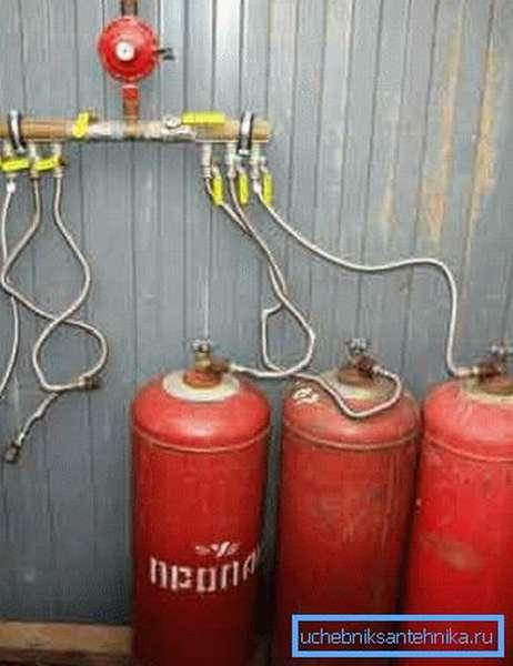 Отопление дома газовыми баллонами: личный опыт