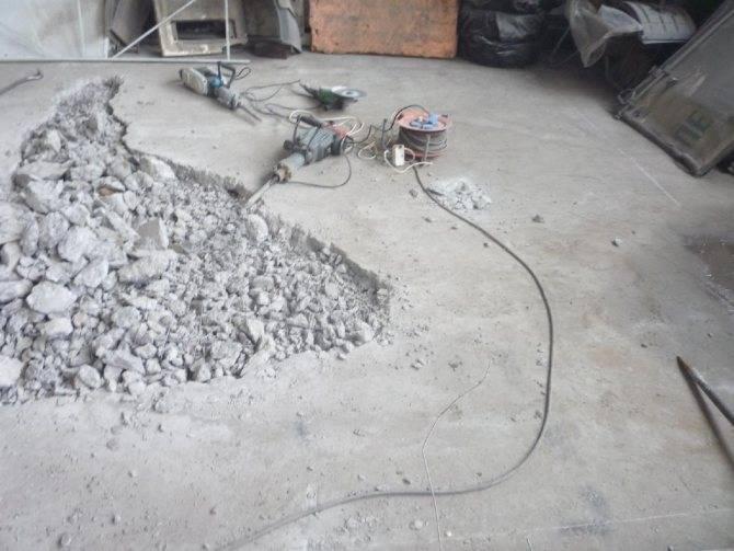 Демонтаж стяжки - эффективные способы и подробная инструкция