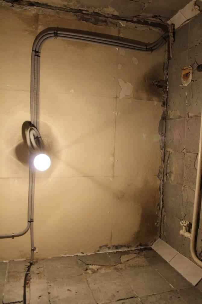 Перенос полотенцесушителя на другую стену в ванной по шагам