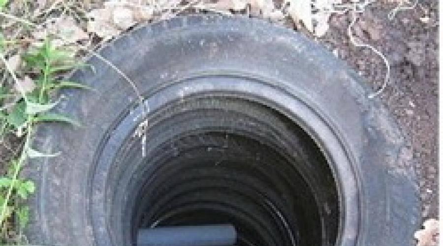 Бюджетный дренаж из старых шин: как организовать осушение участка своими руками / дренаж и ливневка / системы канализации / публикации / санитарно-технические работы