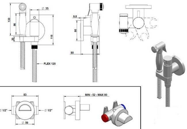 Какой гигиенический душ лучше подойдет для унитаза со смесителем: конструкция, виды, установка