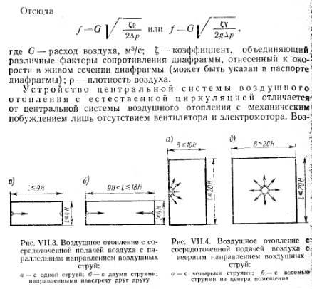 Расчет воздушного отопления разбор специфики на примере