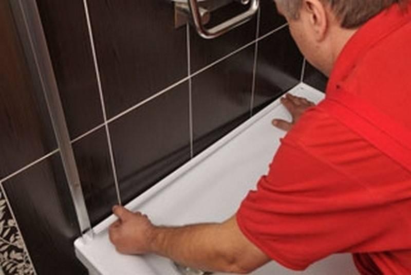 Керамический бордюр для ванны. как и чем приклеить керамический бордюр на ванну? :: syl.ru