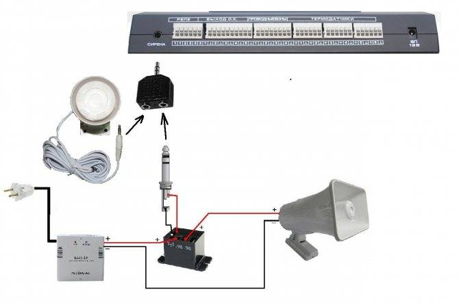 Схема сирены - электрика