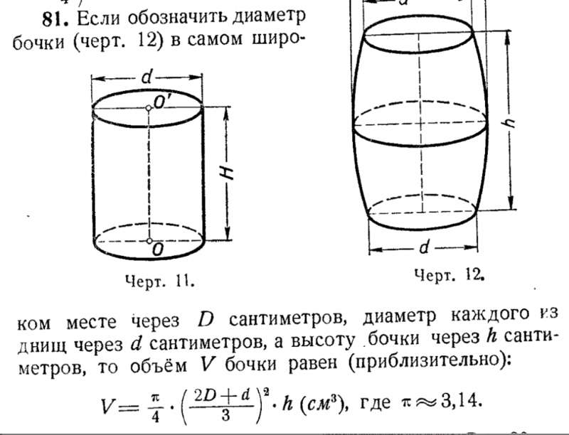Как посчитать объём в емкостях различных форм?