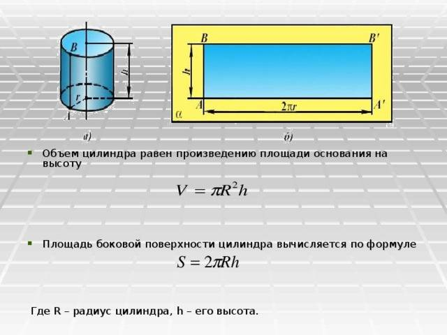 Формулы объема геометрических фигур: как рассчитать. как рассчитать объем емкости различной формы