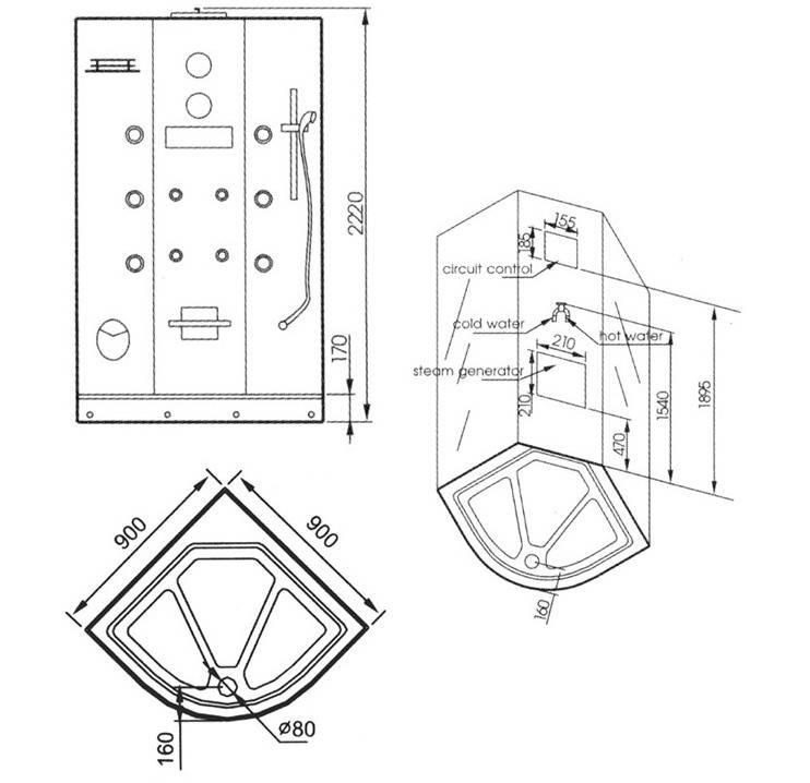Плюсы, минусы и размеры трех основных типов душевых кабин