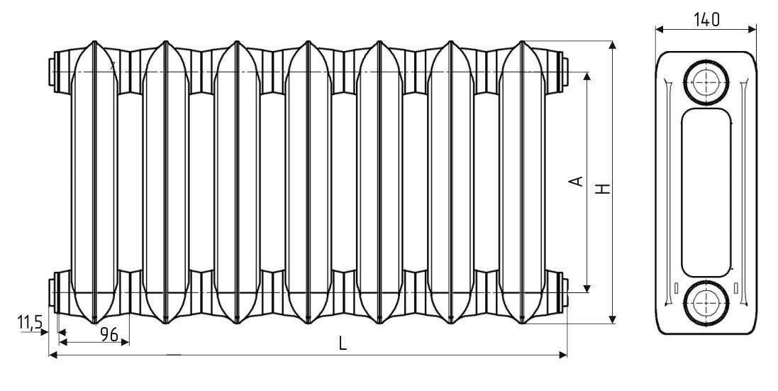 Чугунный радиатор мс 140 технические характеристики: схемы и приемы монтажа