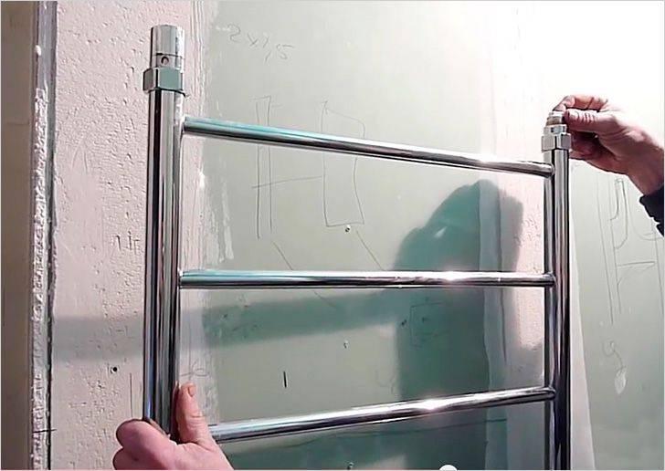 Как перенести полотенцесушитель на другую стену: водяной и электрический (видео)