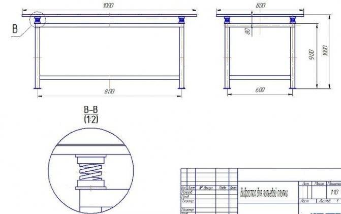 Вибростол для тротуарной плитки своими руками: чертежи и принцип изготовления