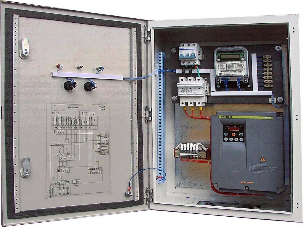 Шкаф управления насосами: схемы силовых соединений техники