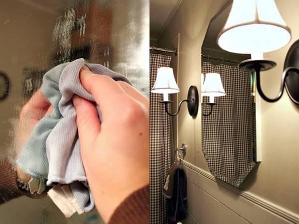 Запотевает зеркало в ванной – что делать?