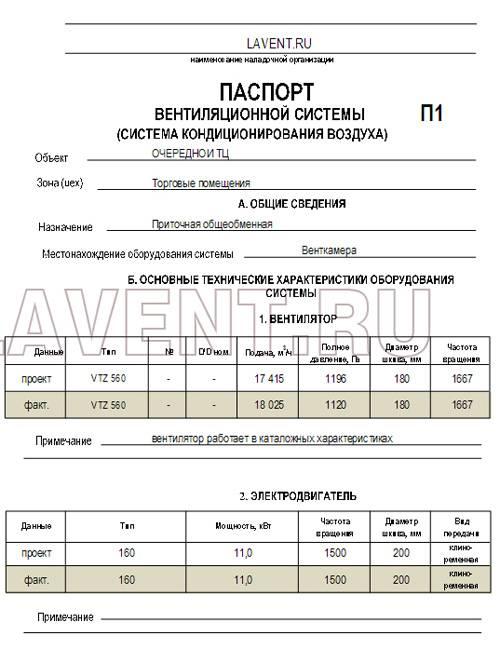 Паспортизация вентиляции лабораторий - ооо «радэк»