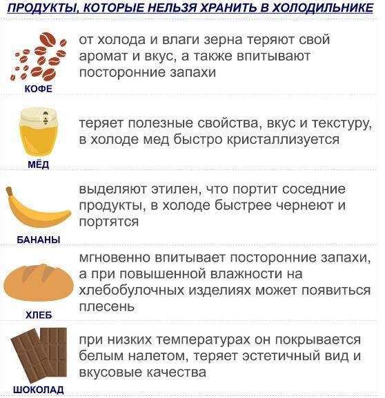 Какие продукты нельзя хранить в холодильнике: 12 категорий блюд