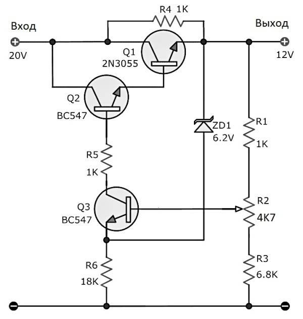 Схемы стабилизаторов тока для светодиодов на транзисторах и микросхемах | полезное своими руками