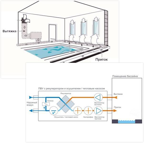 Вентиляция бассейна в частном доме : расчет, проектирование, схемы