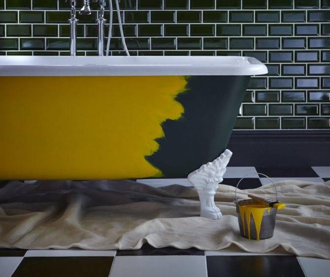 Чем можно покрасить ванну в домашних условиях: названия брендов и технология