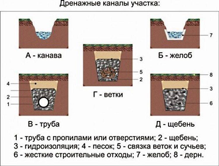 Дренаж участка своими руками: подробная инструкция
