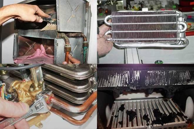 Как почистить газовую колонку: теплообменник, радиатор от накипи, пыли и сажи
