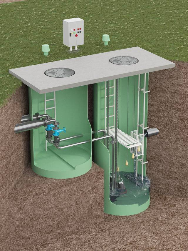 Канализационные насосные станции: установка бытовых кнс для частного дома, комплектная канализация для сточных вод