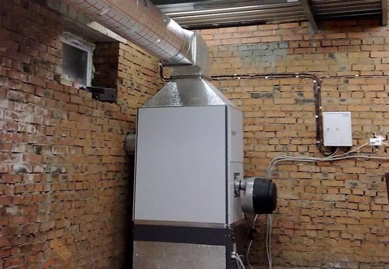Газовое воздушное отопление производственных помещений - всё об отоплении
