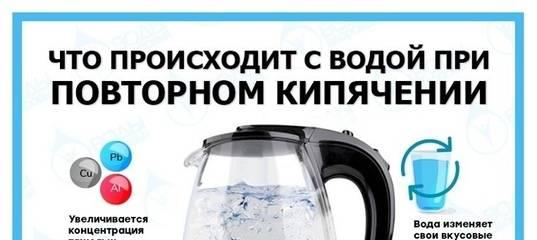 Кипятить воду несколько раз: вредно или нет?    ichip.ru