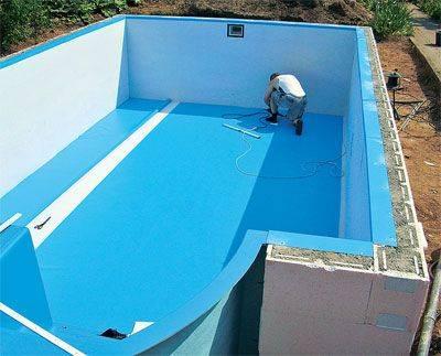 Обмазочная гидроизоляция для бассейнов и фонтанов - что это такое, плюсы и минусы, разновидности (жидкая резина, мастика и другие), правила применения