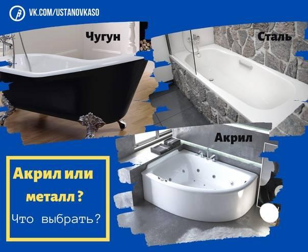 Как выбрать акриловую ванну: советы эксперта, лучшие производители, рейтинг моделей
